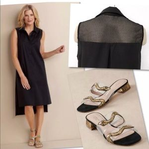 SOFT SURROUNDINGS CLAUDETTE MESH BLACK DRESS M 10